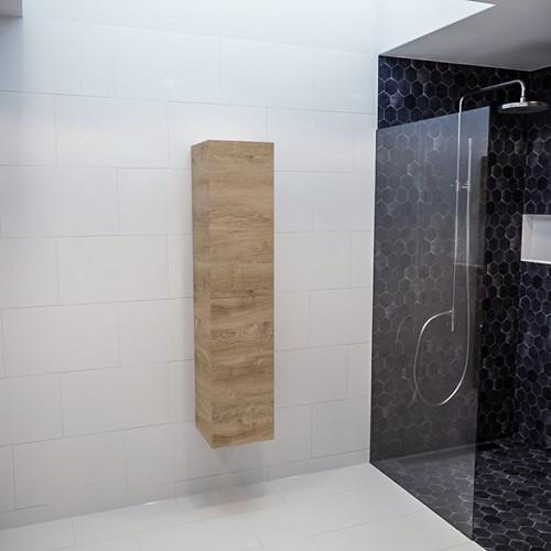 BEAM 160cm kolomkast kleur washed oak met 2 deuren | voorraad