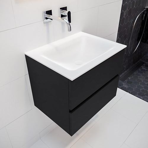 VICA 60 badmeubel urban 2 lades wastafel CLOUD midden zonder kraangat   voorraad