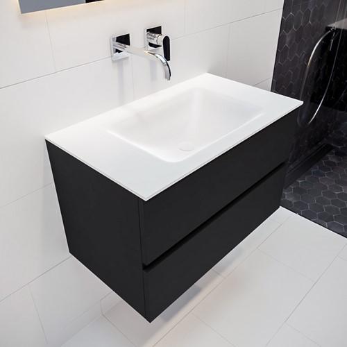 VICA 80 badmeubel urban 2 lades wastafel CLOUD midden zonder kraangat | voorraad