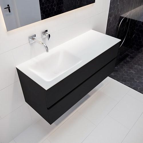 VICA 120 badmeubel urban 2 lades wastafel CLOUD links zonder kraangat | voorraad