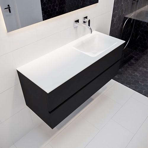 VICA 120 badmeubel urban 2 lades wastafel CLOUD rechts zonder kraangat | voorraad