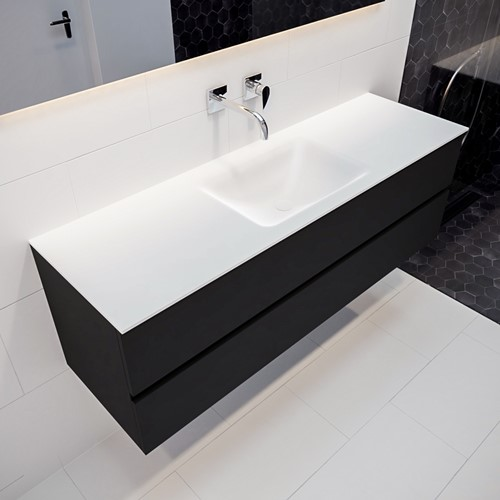 VICA 150 badmeubel urban 2 lades wastafel CLOUD midden zonder kraangat | voorraad