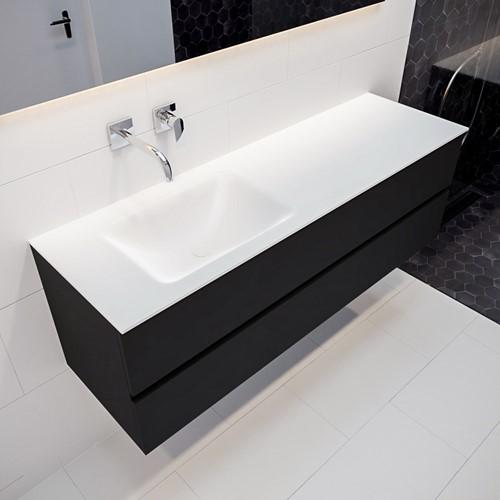 VICA 150 badmeubel urban 2 lades wastafel CLOUD links zonder kraangat | voorraad