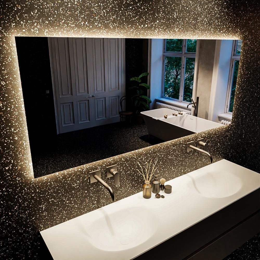 Spiegel rechthoek BRIGHT passend bij de badkamermeubels van MONDIAZ