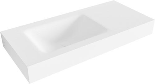 CLOUD Talc vrijhangende wastafel 100cm links rand 12cm | voorraad