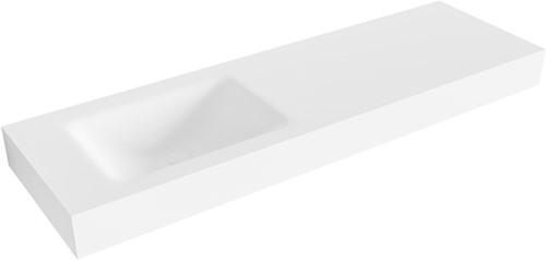 CLOUD Talc vrijhangende wastafel 150cm links rand 12cm | voorraad
