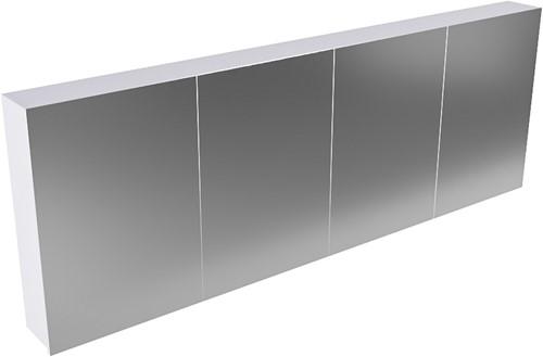 CUBB spiegelkast 200x70x16cm kleur cale met 4 deuren