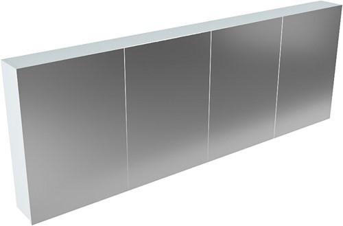 CUBB spiegelkast 200x70x16cm kleur clay met 4 deuren