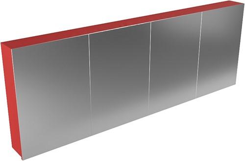 CUBB spiegelkast 200x70x16cm kleur fire met 4 deuren