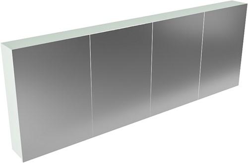 CUBB spiegelkast 200x70x16cm kleur greey met 4 deuren