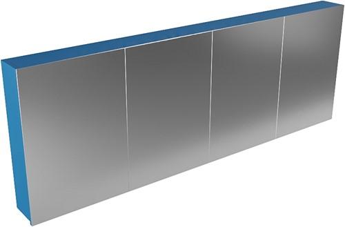 CUBB spiegelkast 200x70x16cm kleur jeans met 4 deuren