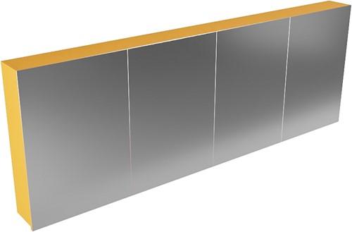 CUBB spiegelkast 200x70x16cm kleur ocher met 4 deuren