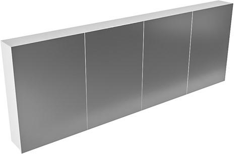 CUBB spiegelkast 200x70x16cm kleur talc met 4 deuren
