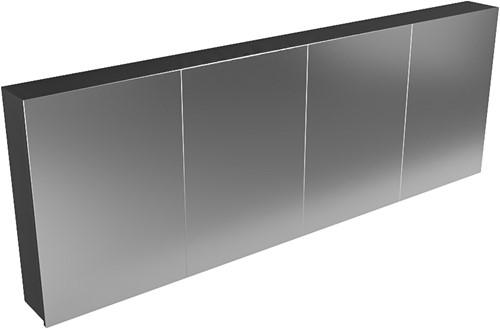 CUBB spiegelkast 200x70x16cm kleur urban met 4 deuren