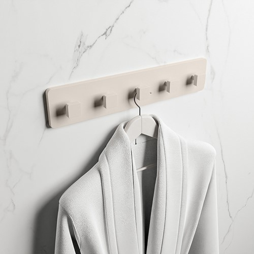 EASY Handdoekhaakjes 45cm solid surface kleur Linen