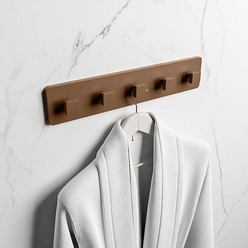 EASY Handdoekhaakjes 45cm solid surface kleur Rust