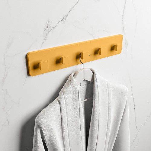 EASY Handdoekhaakjes 45cm solid surface kleur Ocher