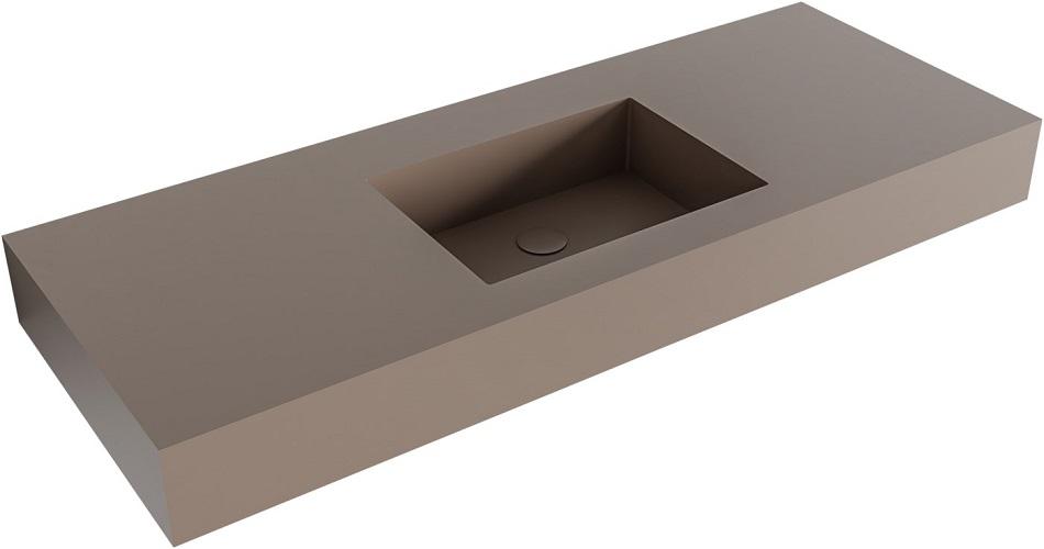 vrijhangende wastafel EDGE passend bij de badkamermeubels van MONDIAZ