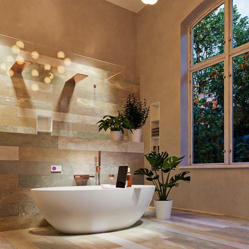 FLOAT vrijstaand bad 170x80cm kleur Talc / Talc
