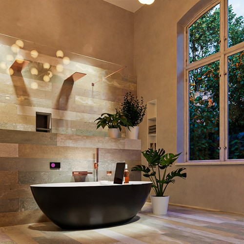 FLOAT vrijstaand bad 170x80cm kleur Urban / Talc