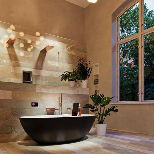 FLOAT vrijstaand bad 170x80cm kleur Urban / Talc | voorraad
