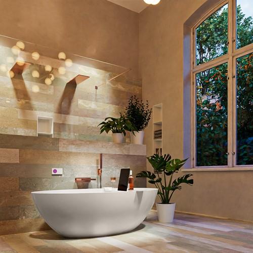 FLOAT vrijstaand bad 170x80cm kleur Linen / Talc