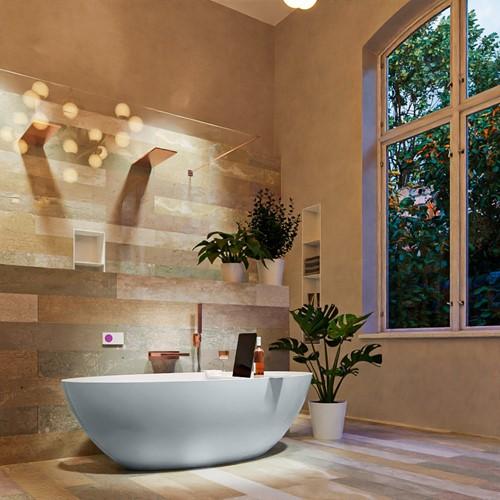 FLOAT vrijstaand bad 170x80cm kleur Clay / Talc