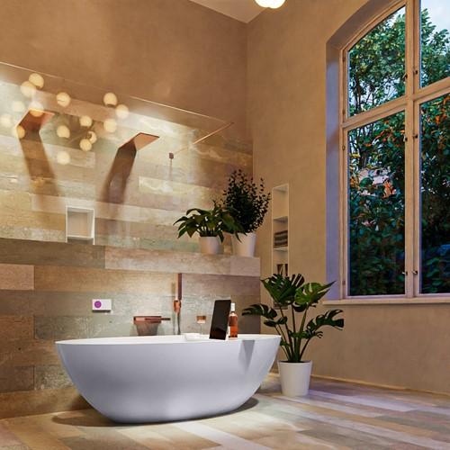 FLOAT vrijstaand bad 170x80cm kleur Cale / Talc
