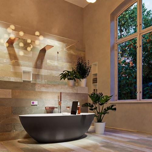 FLOAT vrijstaand bad 170x80cm kleur Dark Grey / Talc