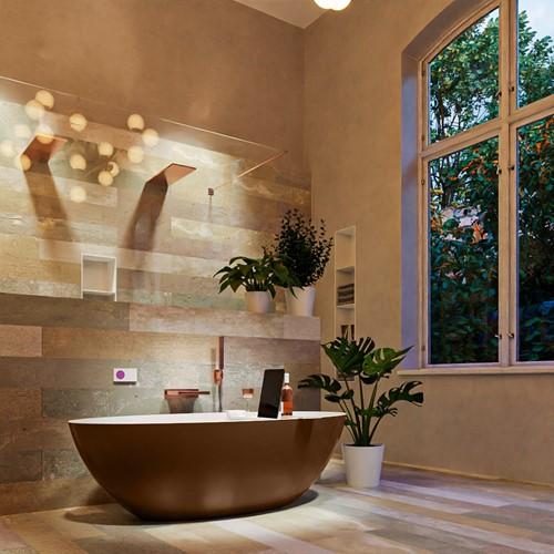 FLOAT vrijstaand bad 170x80cm kleur Rust / Talc