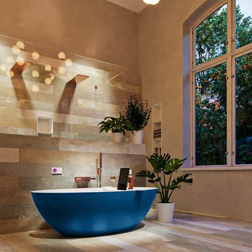 FLOAT vrijstaand bad 170x80cm kleur Jeans / Talc
