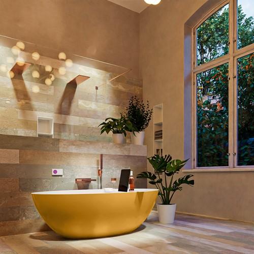 FLOAT vrijstaand bad 170x80cm kleur Ocher / Talc