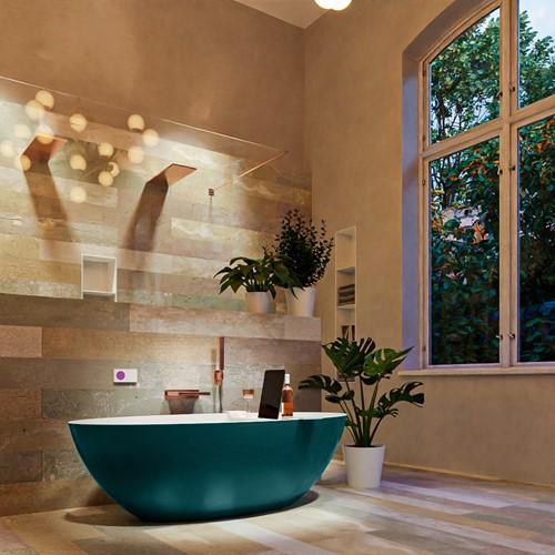 FLOAT vrijstaand bad 170x80cm kleur Smag / Talc