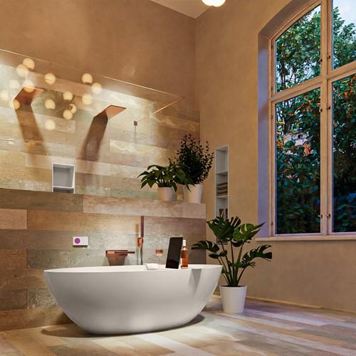FLOAT vrijstaand bad 170x80cm kleur Linen / Linen