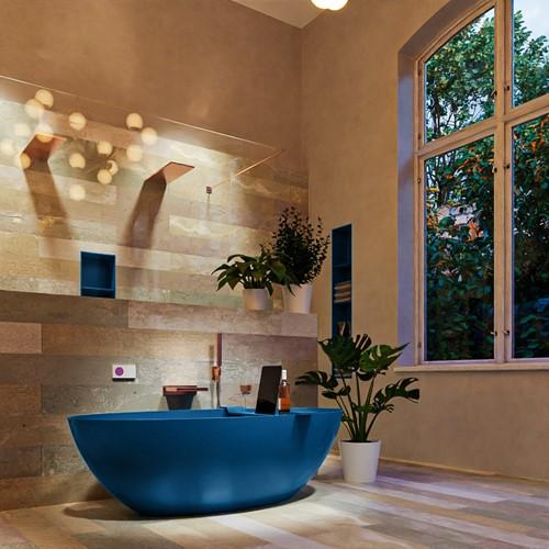 FLOAT vrijstaand bad 170x80cm kleur Jeans / Jeans