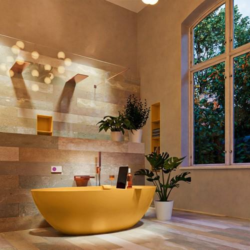 FLOAT vrijstaand bad 170x80cm kleur Ocher / Ocher