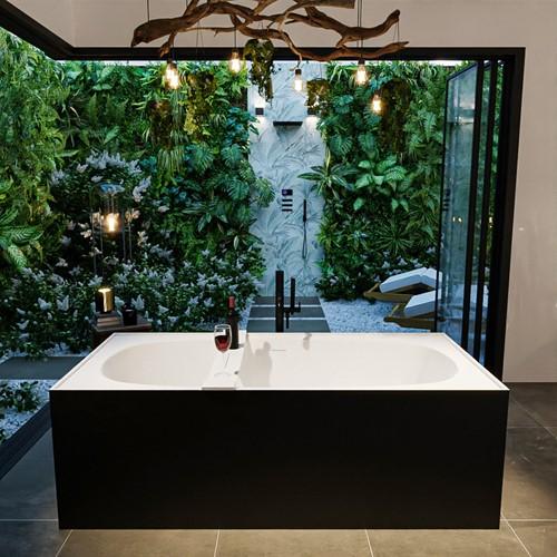 FREEZE vrijstaand bad 180x85cm kleur Urban / Talc