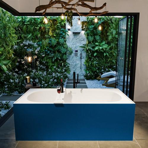 FREEZE vrijstaand bad 180x85cm kleur Jeans / Talc