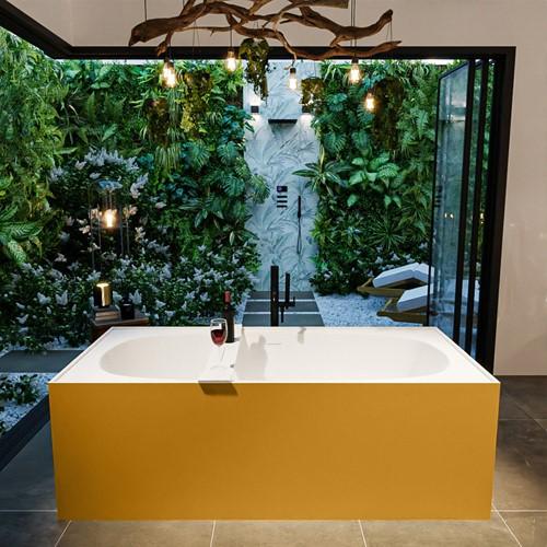 FREEZE vrijstaand bad 180x85cm kleur Ocher / Talc