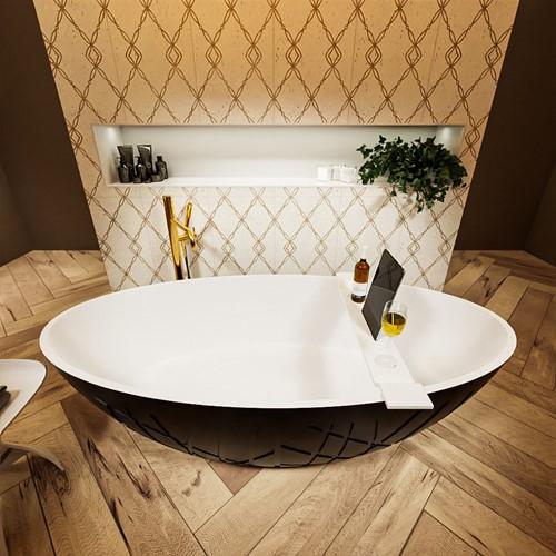 HOLM vrijstaand bad 180x85cm kleur Urban / Talc