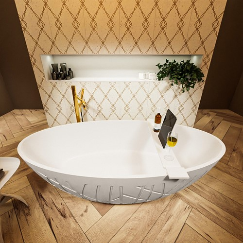 HOLM vrijstaand bad 180x85cm kleur Linen / Talc