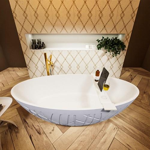 HOLM vrijstaand bad 180x85cm kleur Cale / Talc