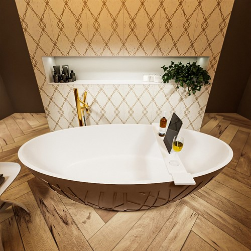 HOLM vrijstaand bad 180x85cm kleur Rust / Talc