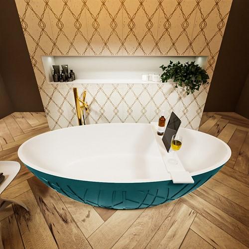 HOLM vrijstaand bad 180x85cm kleur Smag / Talc