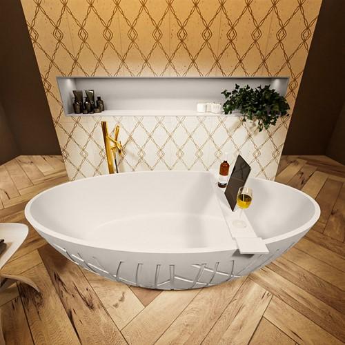 HOLM vrijstaand bad 180x85cm kleur Linen / Linen