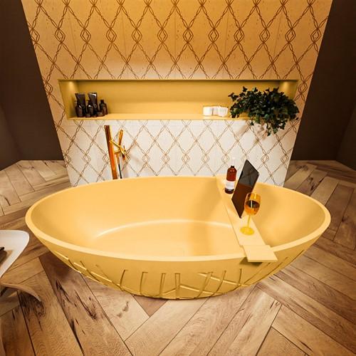 HOLM vrijstaand bad 180x85cm kleur Ocher / Ocher