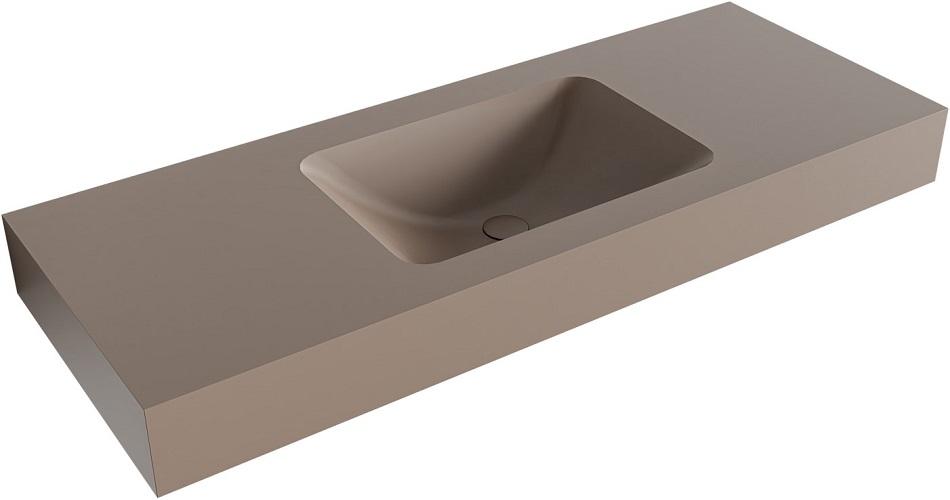 vrijhangende wastafel LEAF passend bij de badkamermeubels van MONDIAZ