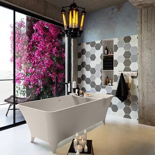 LUNDY vrijstaand bad 170x75cm kleur Linen / Linen