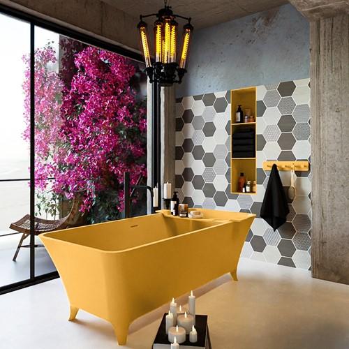 LUNDY vrijstaand bad 170x75cm kleur Ocher / Ocher