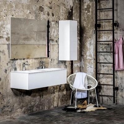 Spiegel rechthoek LETT passend bij de badkamermeubels van MONDIAZ